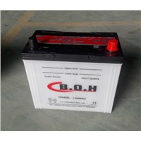 NS60  12V45ah   dry  charged  car battery