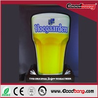 High Quality waterproof outdoor advertising acrylic beer sign