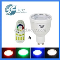 RGBW WIFI Led bulb spotlight 4W gu10 color changing phone remote control