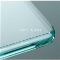 4mm-19mm Clear Flat / Curved Tempered Glass for Shower Doors, Walls