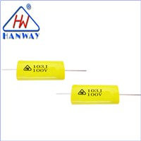 Axial Metallized Polyester Film Capacitor 103J 100V,Made in china