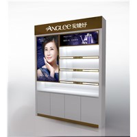 Elegant high quality floor standing cosmetics display stand