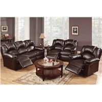 3 Pcs Espresso Motion Sofa Set Sofa Loveseat Recliner Bonded Leather furniture