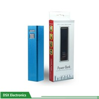 rechargable USB 2600mah popular external battery