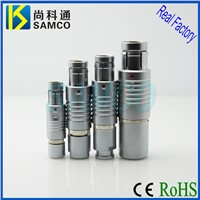 F Series Plug Metal Circular Push Pull Self Locking Connector, Self Latching Connectors