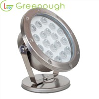 IP68 Stainless Steel LED Underwater Light/LED Landscape Light 18W