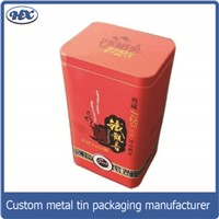 Square metal chocolate tin box