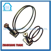 Stainless Steel double Ear Stepless Hose Clamp/fastener