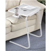Tablemate II White with Cup Holder