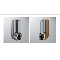 wooden cladding aluminum tilt turn window