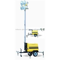 4*1000w Contruction Mobile Tower Light 9M / Mobile Solar Lighting Tower