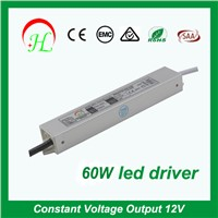60W 12V Waterproof LED Driver IP67,switch power supply unit,psu