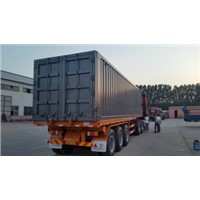 Box type truck semi trailer
