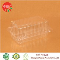 clear disposable plastic cake box