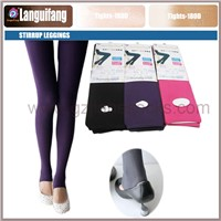 Opaque Stirrup tights in Solid Colored