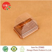 blister clear plastic cake box with round lid