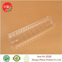 clear disposable PET plastic fruit food tray