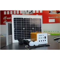 portable DC solar system for camping  led lighting mobile charging