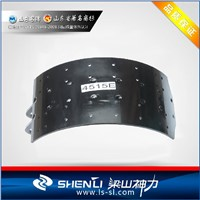 Heavy duty truck and trailer brake shoe 4515E