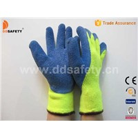 Cut-resistant glove with blue latex DCR102