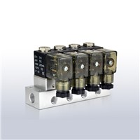 mini 12V solenoid coil combined manifold solenoid valve