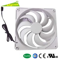 dc axial cooling fan 14025 Case fan white blades