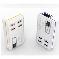 4 USB Traval Charger for mobile devies, charger adapter