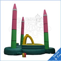 high quality inflatable bungee jumping trampoline , children bungee jumping equipment