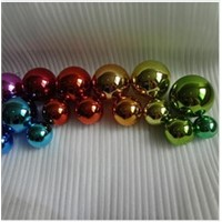 mirror polished plated stainless steel spheres