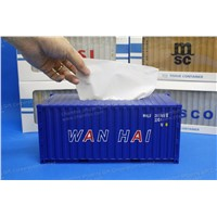 Shipping Forwarding Gift|Tissue Container|Unique Business Souvenir|Container Model|WANHAI