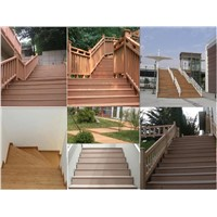 plastic wood composite stairs/flooring