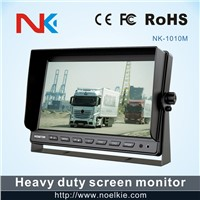 10.1 inch car reverse split screen tft lcd monitor with U style bracket