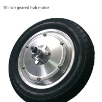 10 inch brushless geared electric hub motor