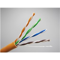 Gigabit 305m UTP Cat5e PVC Lan Cable 24AWG For Networking