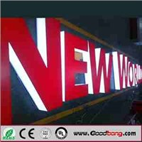 LED backlit advertising letters sign, Thermoformed large plastic letters