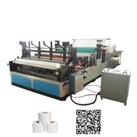 Automatic rewinding and perforating tissue roll small toilet paper making machine price