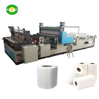 With Glue Lamination Automatic Kitchen Towel Paper Machine Rewinder