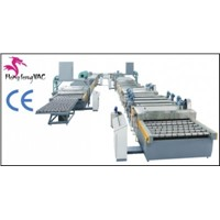 automatic glass silver coating machine plant / glass mirror manufacturing machines
