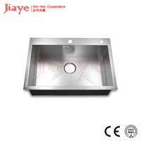 Under-mount single bowl sink with square corner, S.S handmade sink JY-5248L