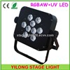 6 in 1 RGBAW UV hanging LED lights,9X15W disco light,wedding light
