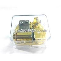 Acrylic Clear Music Box with 18 Note Classic Movement (YB8/C-02)