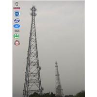 GSM mobile telecom four legged tubular galvanized telescoping antenna tower