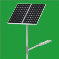 Solar street lighting pole