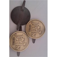 antique brass oval shape brand logo metal tags, luggage tags, garment tags