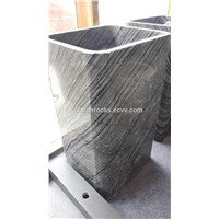 Ancient Wood Marble pedestal sink