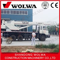 china brand pickup truck crane with 20 ton telecopic boom