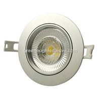 Driverless Dimmable LED Down Lights In Matt Silver Color 10W Cut Hole 95mm