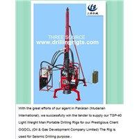 Assembling drilling rig in Pakistan