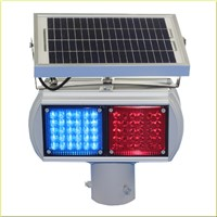 Solar LED Warning Traffic Light Double Sides with 2 Moulds