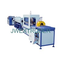 PE carbon spiral reinforcing hose production line